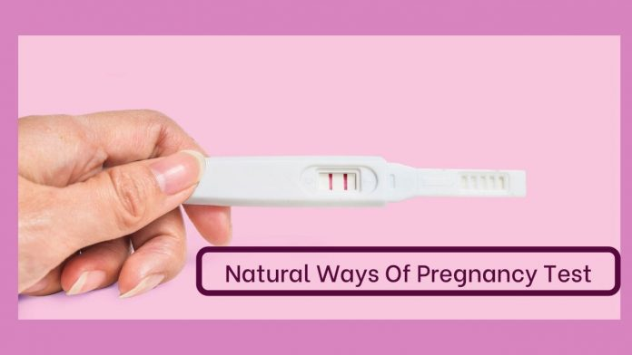 natural pregnancy test